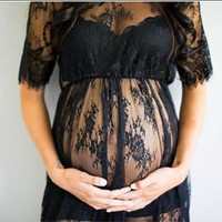 Fashion Lace Maternity Dresses White Maternity Photography Props Sexy Pregnant Dress Pregnancy Dress for Maternity Photo Props