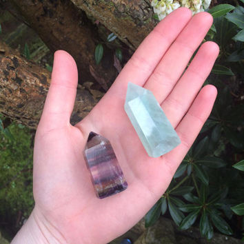 Set of Two Free Standing Fluorite Points
