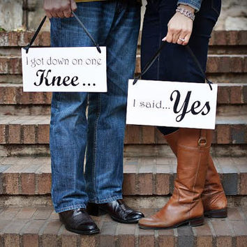 She Said Yes - Engagement Photo props - Wedding Bride Groom signs - Photo prop - Wedding Reception Decor