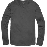 Long-Sleeve Henley - Charcoal