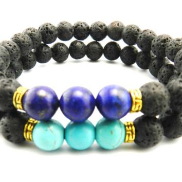 ~Beautiful Lava Stone Bracelet & Essential Oil Diffuser (2 Colors)