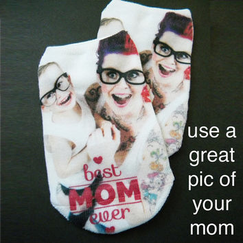 Custom Full Print Photo No Show Socks for Women