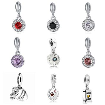 free shipping New Compass Rose Forever Friends diy jewelry hanging bead charms Fit pandora charms silver 925 original bracelet