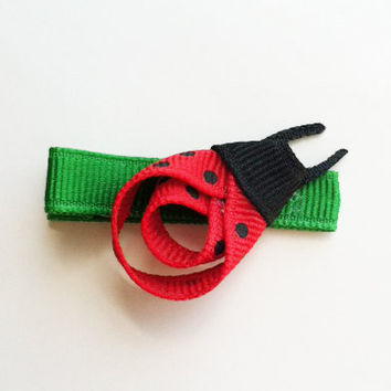Lily the Ladybug Ribbon Sculpture Hair Clip Free by leilei1202