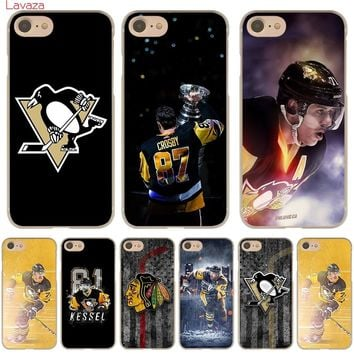 Lavaza Penguins NHL Ice Hockey Sports Hard Phone Case for Apple iPhone 6 6s 7 8 Plus 4 4S 5 5S SE 5C Cover for iPhone XS Max XR