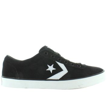converse all star wells ox black white canvas lace sneaker