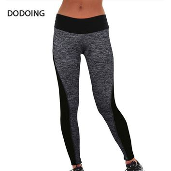 DODOING Women Patchwork Slim Pants Workout Pants Lady legins work out Clothes Outdoors women for Capris