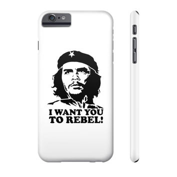 I WANT YOU TO REBEL Phone Case