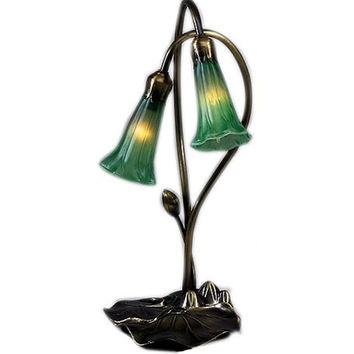 "0-005087>16""h 2-Light Lily Green"