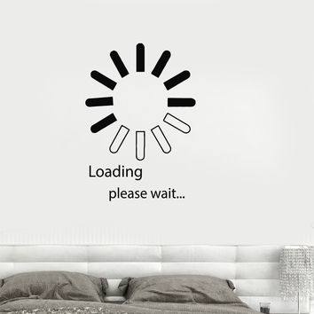 Vinyl Decal Computer IT Design Video Game Loading Bedroom Decor Wall Stickers (ig2745)