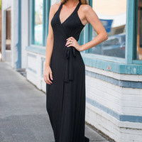 Wrapped In You Maxi Dress, Black
