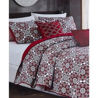 Miranda Medallion 5PC Full/Queen Quilt SET