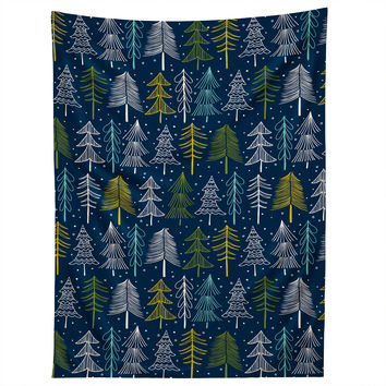 Heather Dutton Oh Christmas Tree Midnight Tapestry