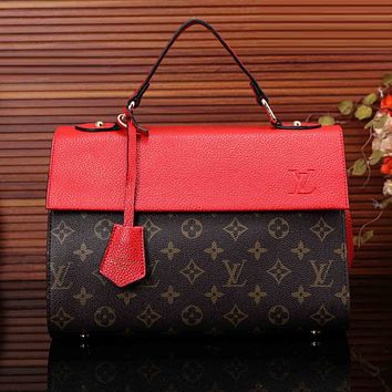 LV Women Shopping Bag Leather Satchel Shoulder Bag Tote Handbag