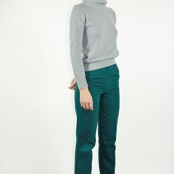 70s Wool Blend Turtle Neck S