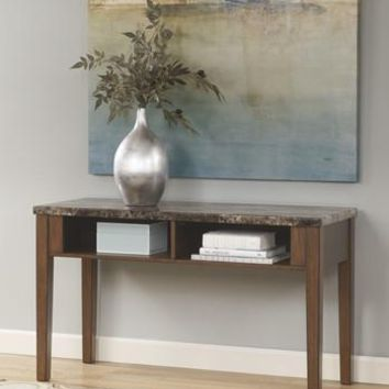 T158-4 Theo Console Sofa Table Warm Brown Free Shipping!