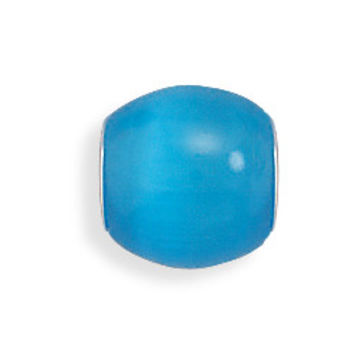 Blue Glass Cat's Eye Bead