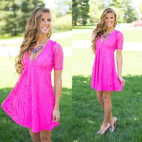 It's Hot Pink in Here Dress