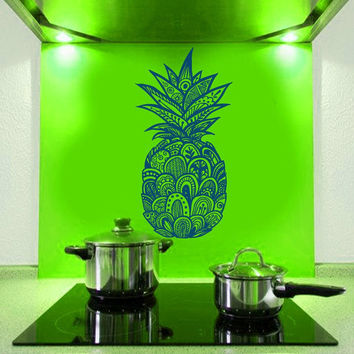 Wall Decals Pineapple Vinyl Sticker Tribal Tattoo Floral Pattern Decal Interior Home Decor Art Murals Kitchen Yoga Studio Bedroom Dorm AL7