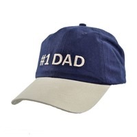 #1 DAD Adjustable Baseball Cap