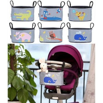 2017 Promotion Baby car hanging basket baby stroller animal storage bag stroller Accessories diaper bag Mama Bag With 8 style
