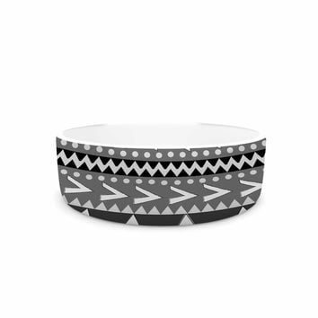 "Nika Martinez ""Black Forest"" Gray White Pet Bowl"