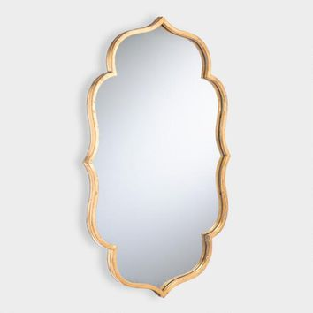 Gold Wavy Accent Mirror