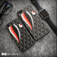 Bape shark print phone shell phone case for Iphone 6/6s/6p/7p/7/8/8p
