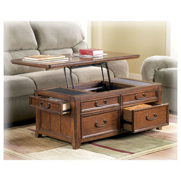 Etonnant Signature Design By Ashley Woolwich Trunk Coffee Table With Lift Top