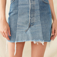 Urban Renewal Recycled Levi's Two-Tone Patched Denim Mini Skirt | Urban Outfitters