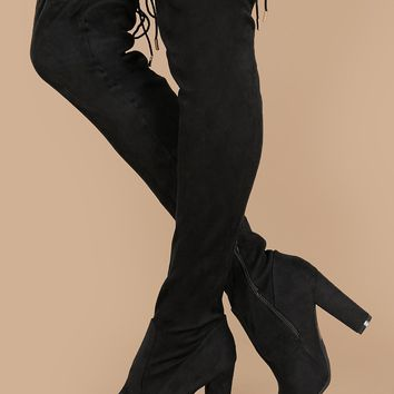 Heeled Over The Knee Stretch Boots