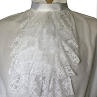 Large lace jabot / cravat costume Victorian Edwardian Regency Steampunk