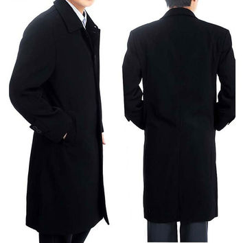 Winter Men's fashion handsome winter long dust coat Wind Overcoat for men warm Trench jacket