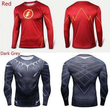 Marvel Superhero Casual Comics Costume Cycling Tee T-Shirts Bicycle Sport Jersey The Flash Shazam Costume [8833472972]
