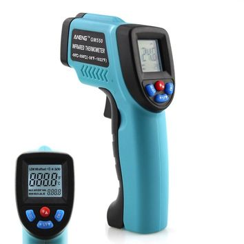 Laser Thermometer Outdoor Thermometer (Sky Blue)