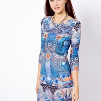 River Island Scarf Print Bodycon Dress