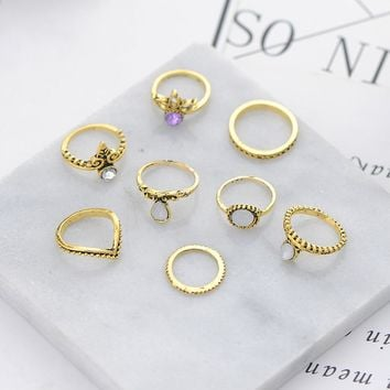 8Pcs/Set Knuckle Rings