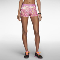 "Nike 3"" Pro Core Compression Printed Women's Shorts - Red Violet"