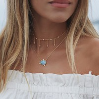 Orion Gemstone Necklace - Aquamarine