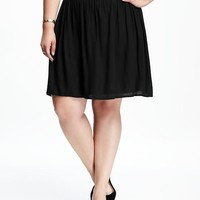 Pull-On Plus-Size Swing Skirt | Old Navy