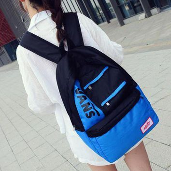 DCCKNQ2 Vans Women Simple Rucksack Bag Shoulder Bag Backpack