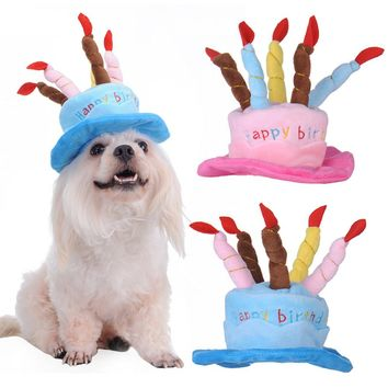 Happy Birthday Cake Hat For Dogs