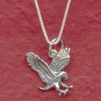 Sterling Silver Eagle Necklace