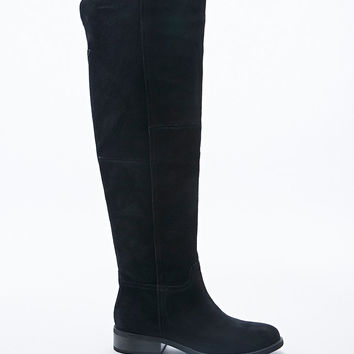 Vagabond Cary Over Knee Suede Boots in Black - Urban Outfitters