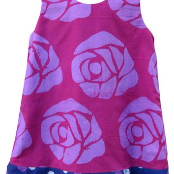 Baby Reversible Batik Rose Dress