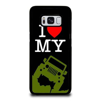 I LOVE MY JEEP Samsung Galaxy S3 S4 S5 S6 S7 Edge S8 Plus, Note 3 4 5 8 Case Cover
