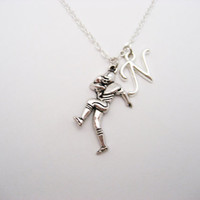 Football Player Necklace Personalized  Football Necklace  Initial Necklace Sports Jewelry Football Jewelry Team Gift Football Player Gift