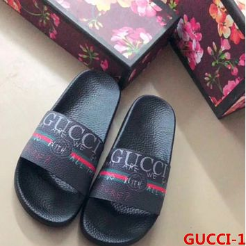 simpleclothesv :Gucci: Casual Fashion Women Man Sandal Slipper Shoes