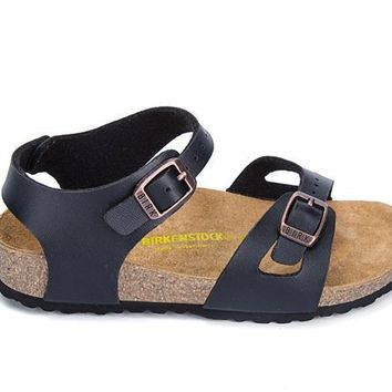 Birkenstock Rio Birko-flor Sandals For Women & Men Flip Flops Shoes Black - Beauty Ticks