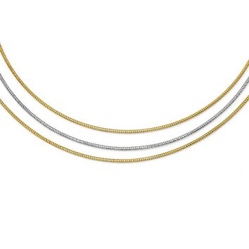 Leslies Sterling Silver Gold-tone Layered with 2in ext. Necklace